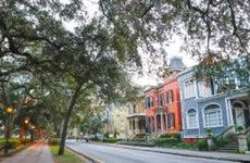 Scenic streets of Savannah, Georgia.