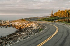 Winding road on the coast of Maine