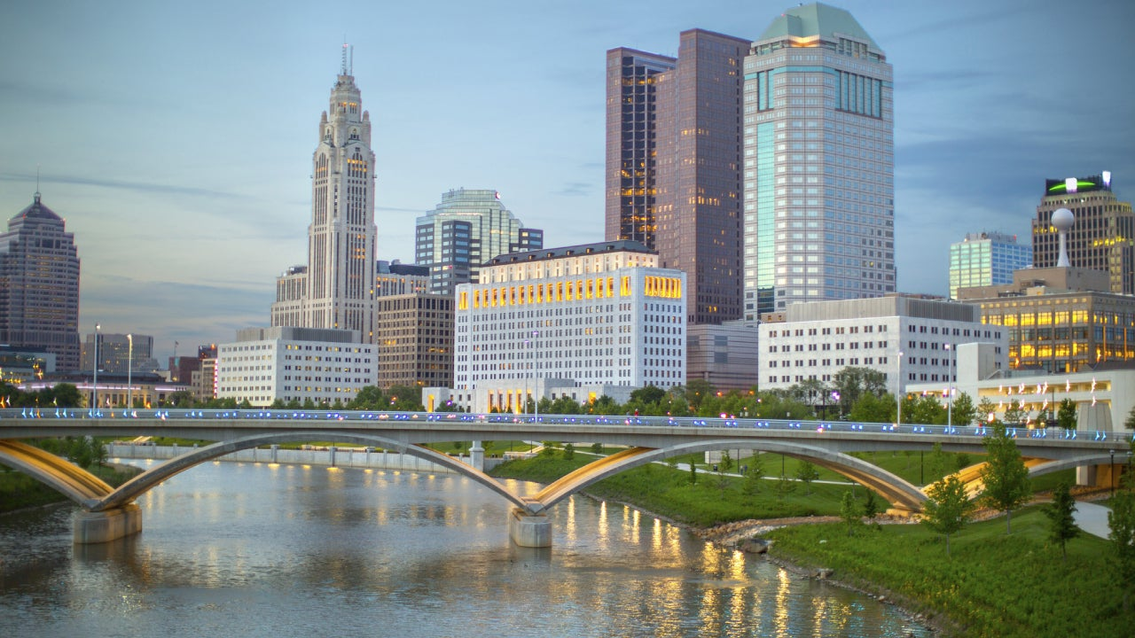 Shot of the Cleveland skyline