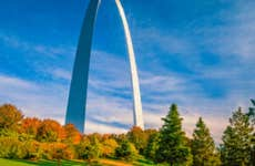 The Gateway Arch is surrounded by the Gateway Arch National Park