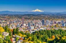 Portland, Oregon with Mount Hood in the background
