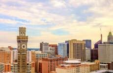 Baltimore City Skyline - Baltimore, Maryland, USA