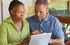 Couple managing their finances