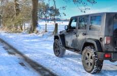 Wrangler Jeep In The Snow