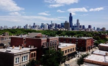 Chicago homes and skyline