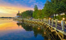Boardwalk in Lake Villages, Florida