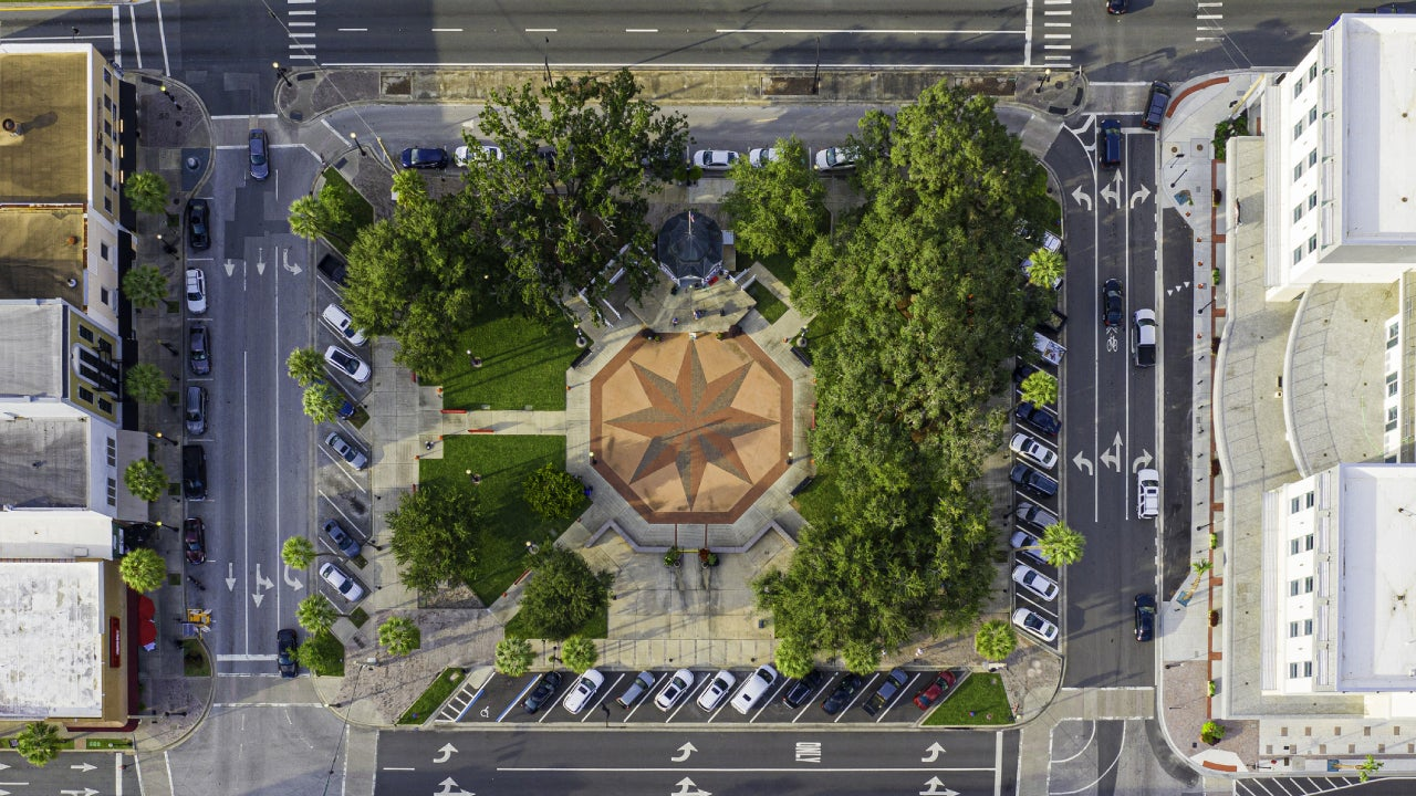 Aerial Photo of Historic Town Square