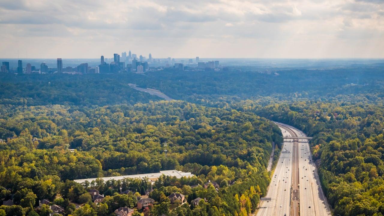 View of interstate highway, Atlanta