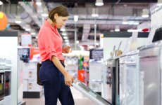 Woman shopping for dishwasher