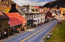 High Street in Harpers Ferry, West Virginia