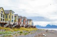 Houses on stilts in Homer, Alaska