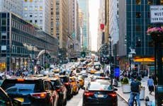 Traffic jam on 42nd street in Manhattan, New York City