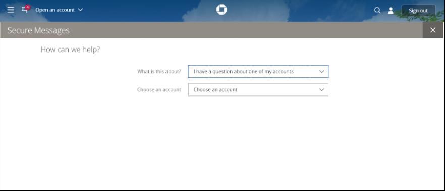Screenshot of Chase's Q&A portal