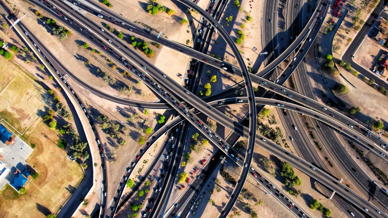 Urban Arizona Freeway Interchange