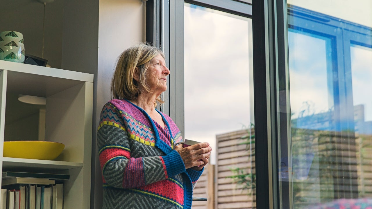A retiree at home