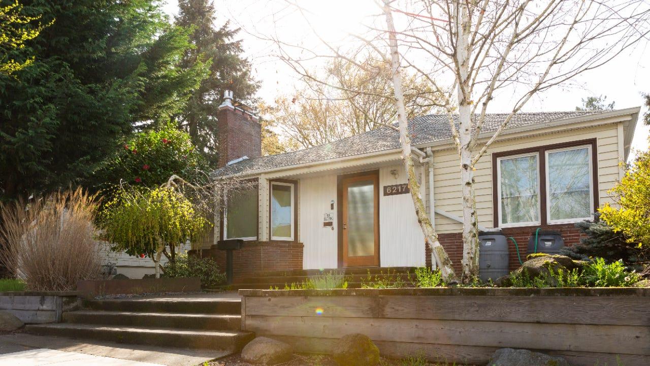 Exterior of a single-story home