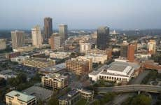 Over the Downtown City Center Skyline of Little Rock Arkansas State Capitol