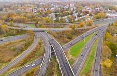 New England Highways East Hartford Connecticut Aerial