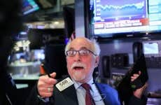 A trader screams out on the stock exchange