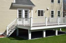 A newly built composite elevated deck