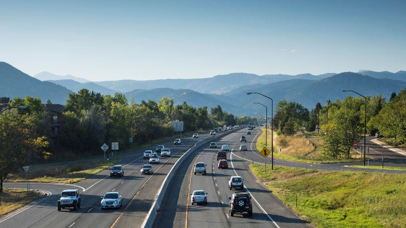 cars driving on highway in boulder, colorado
