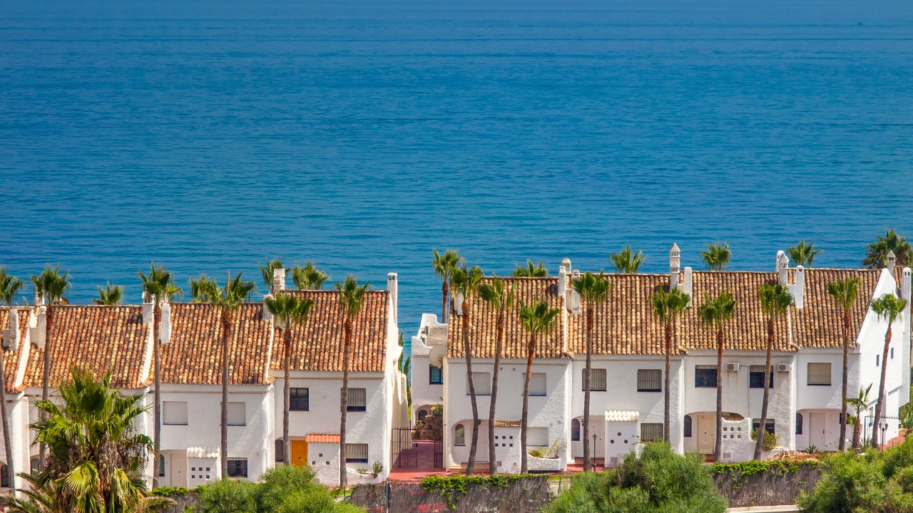White houses, holiday apartments; at Costa del Sol, Spain