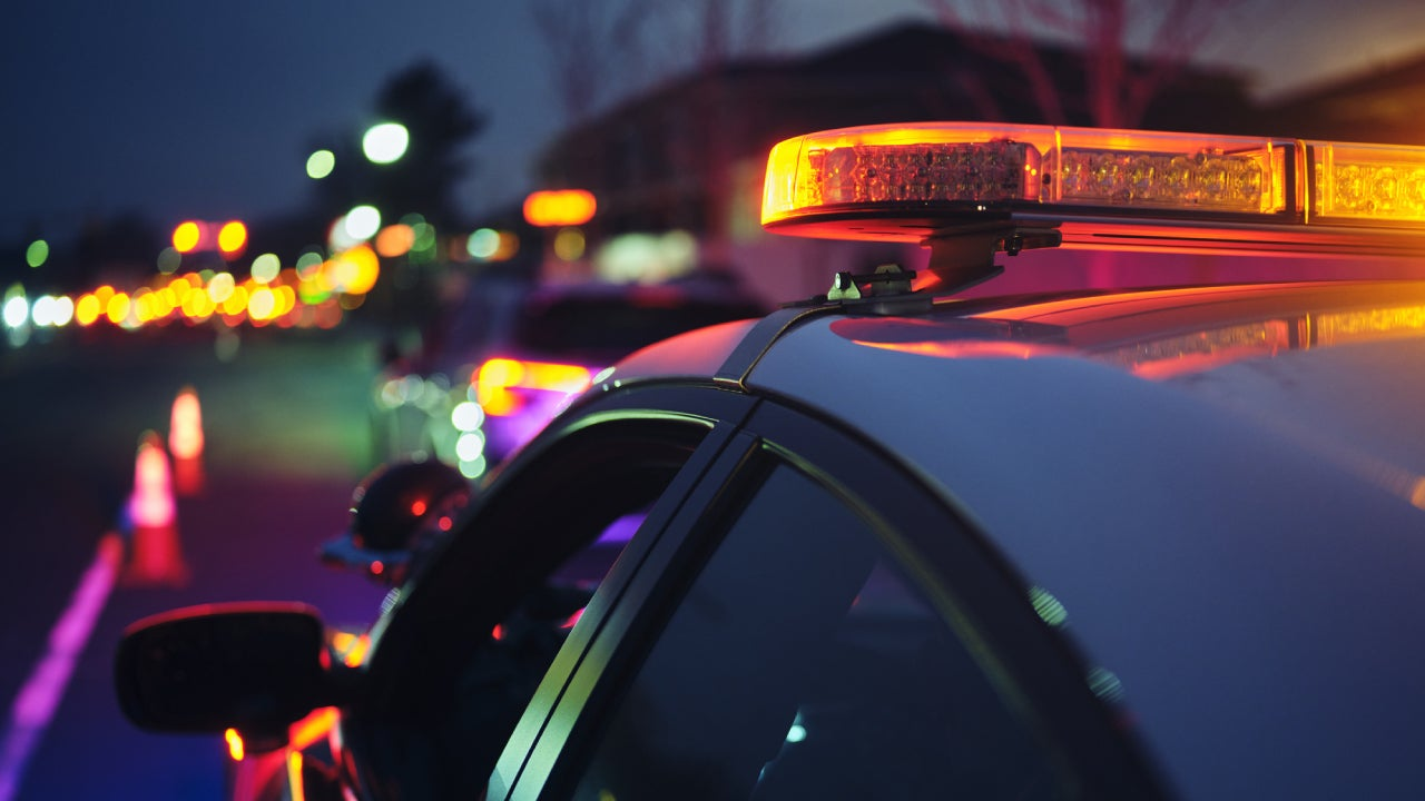 Nightime Police Traffic Stop