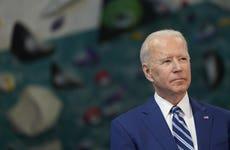 President Biden speaks during an event in Virginia