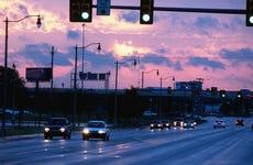 Reno Ave, Bricktown, at sunrise.