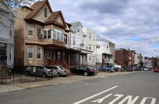 Detached houses in Jersey City, New Jersey, USA
