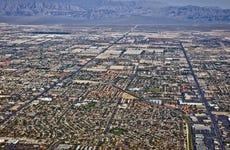 Arial View of Northern Las Vegas Nevada USA