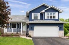 A suburban single-family home in Joliet, Illinois