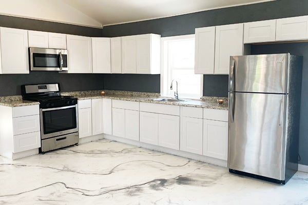 Kitchen of the model home.