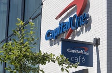 Capital One storefront with a Capital One Cafe