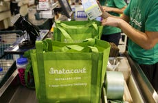 A picture of an Instacart bag in a Whole Foods