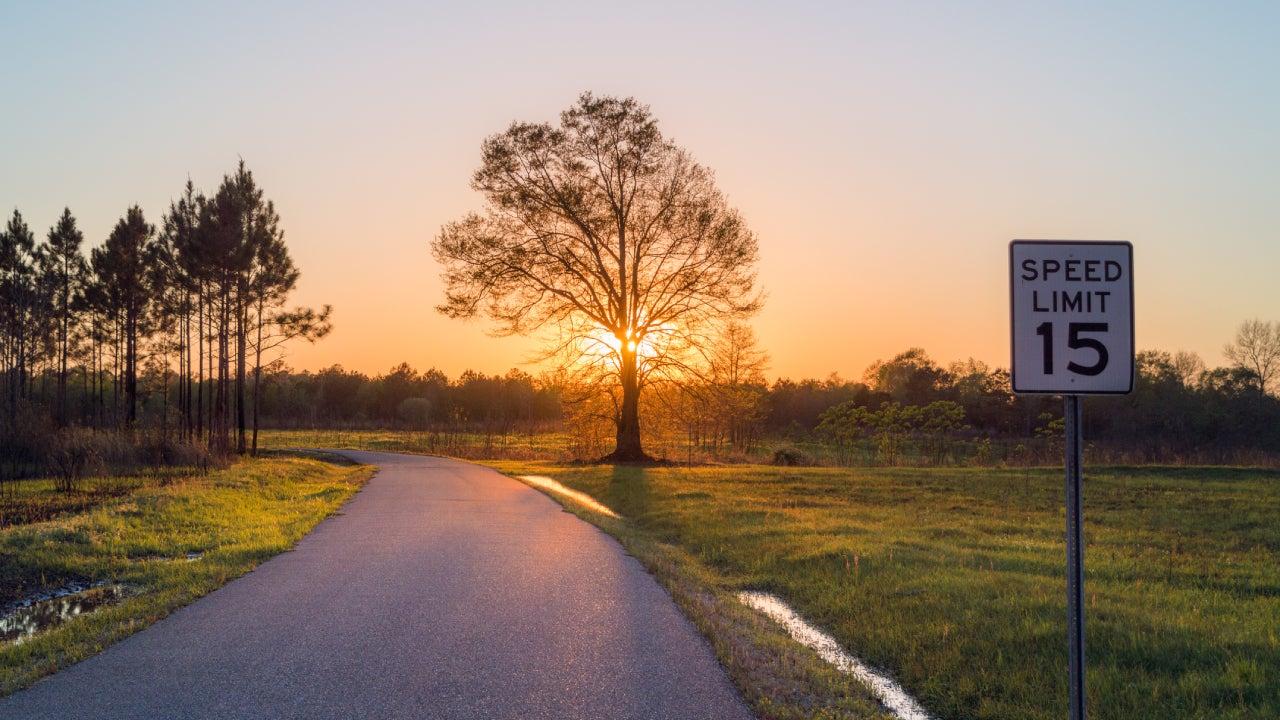 Sunset in Alabama, United States