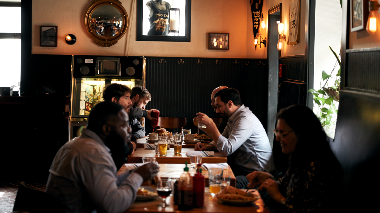Patrons dine at Prohibition Taproom, one of Pasquarello's five restaurants in Philadelphia