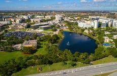 Overhead shot of Florida International University