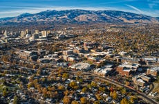 Overhead view of University of Nevada Reno