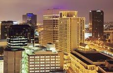 USA, Virginia, Norfolk, Cityscape at evening
