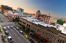 Downtown Boise, Idaho, high angle view