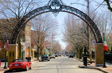 Metal Arch, New Haven's Little Italy