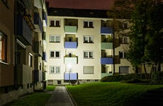 Apartment building by night