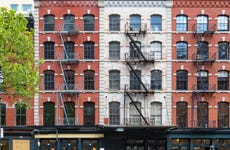 Building exterior on Duane Street in New York City