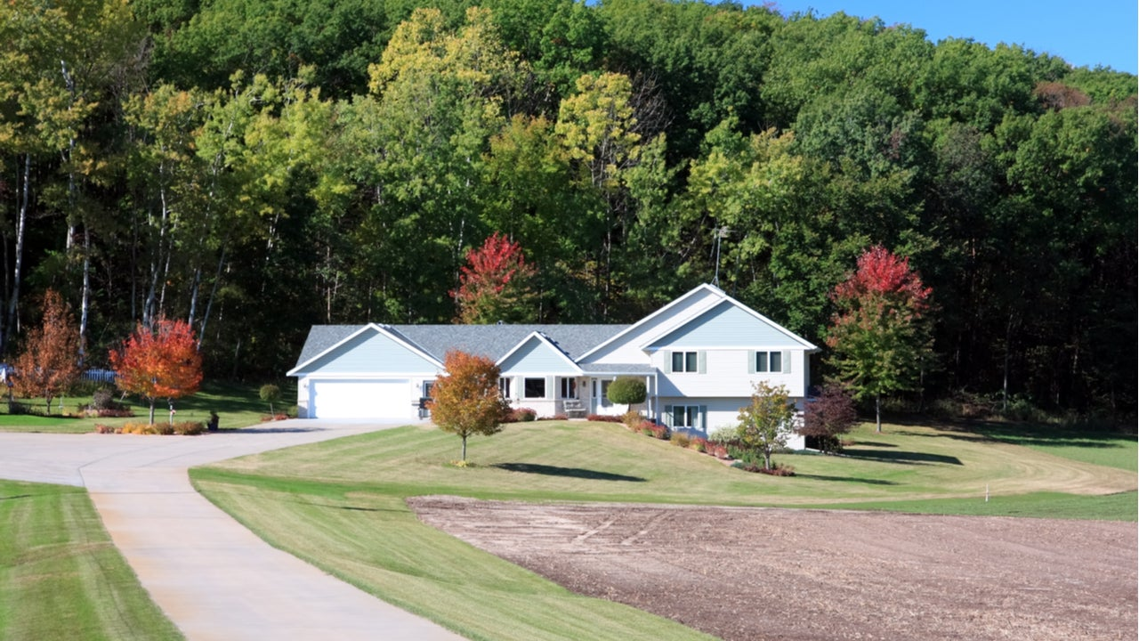 A rural home in Minnesota