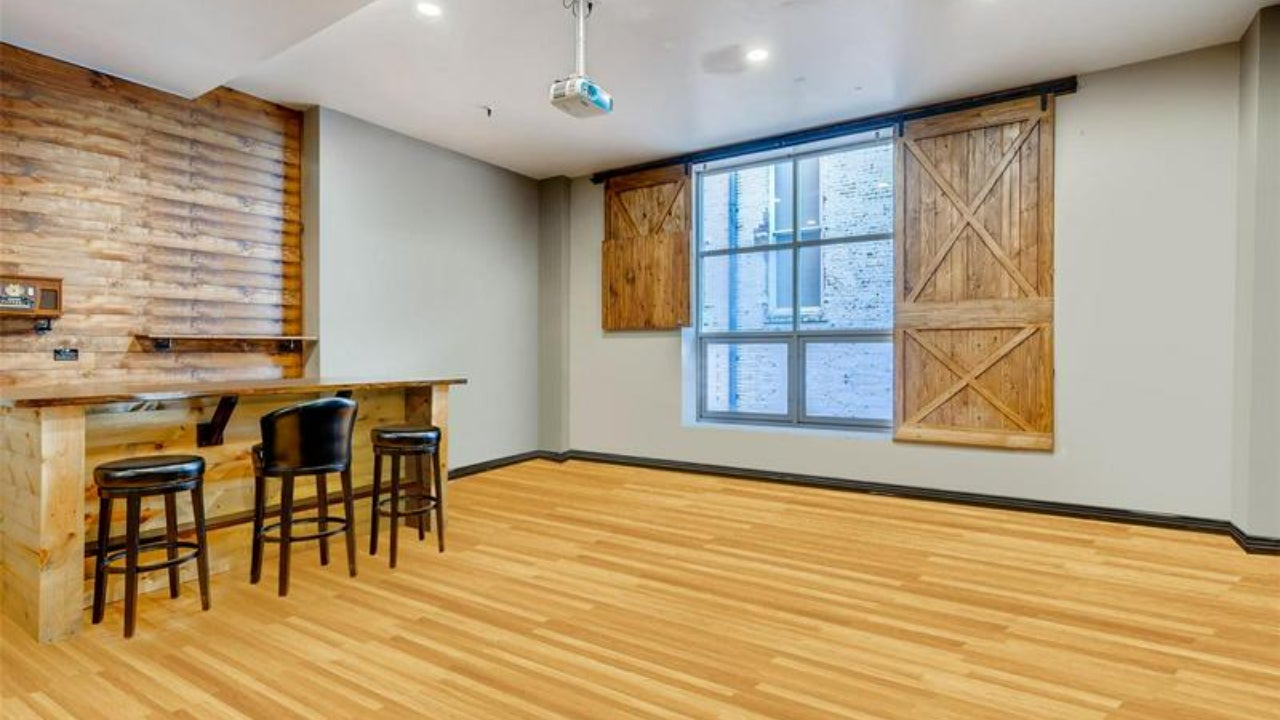 Denver bachelor pad digitally-staged as empty