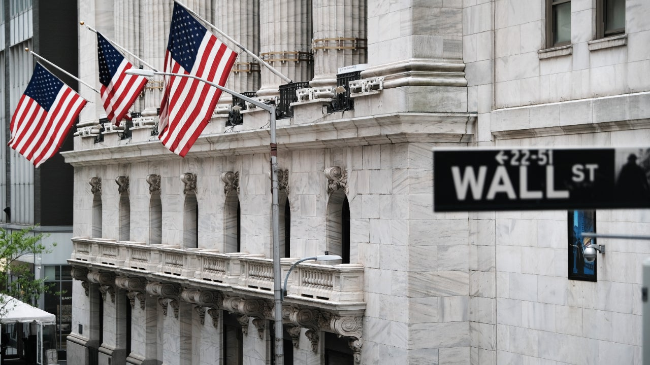 The New York Stock Exchange in lower Manhattan
