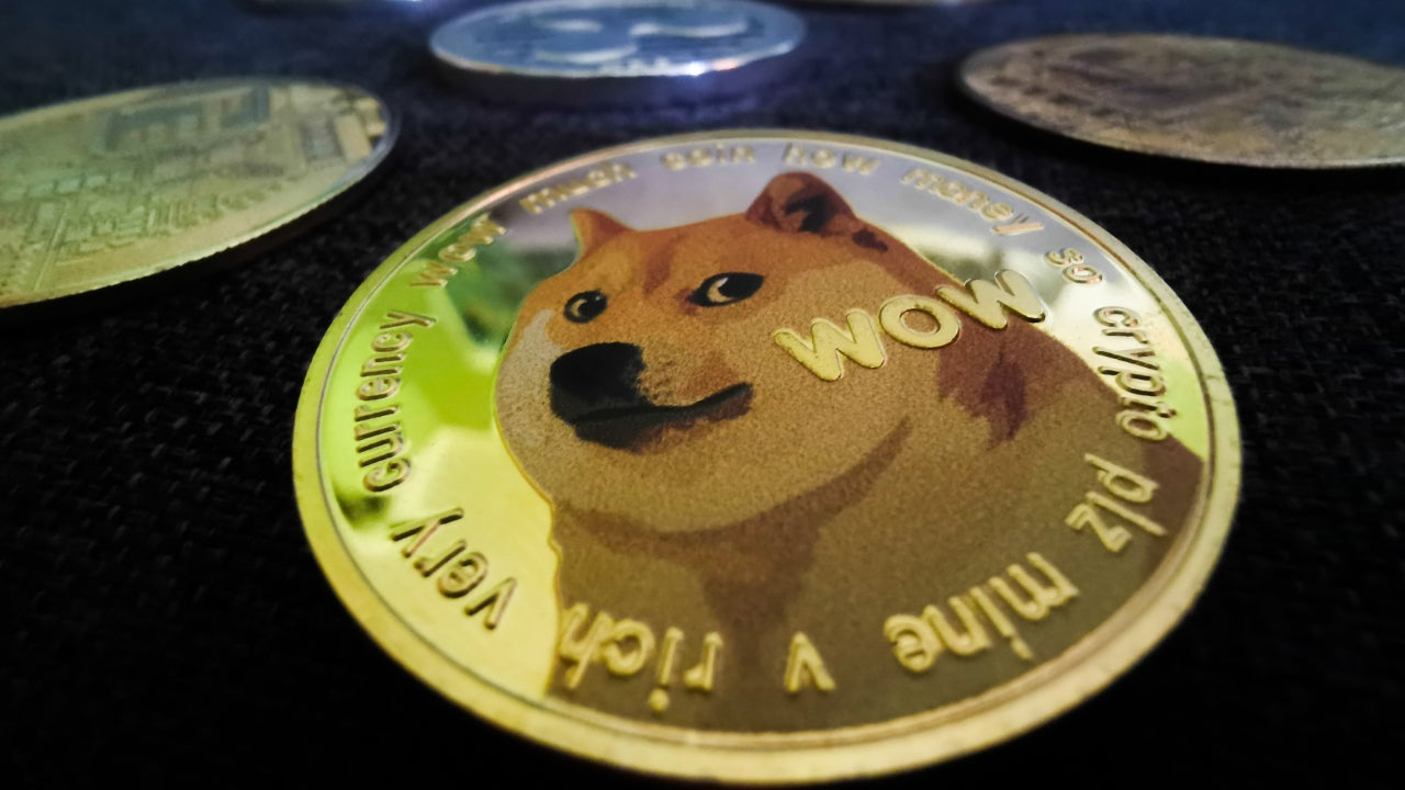 A picture of a physical dogecoin
