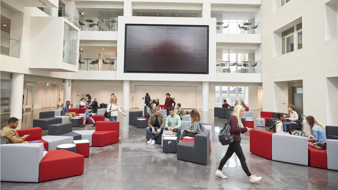 Interior of college campus building
