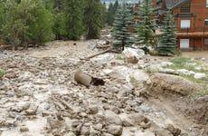 Powerful Mud Slide With Rock,Boulders And Debris